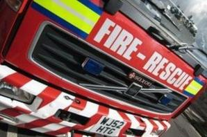 Fire crews tackle fire at disused part of old ICI building at Winningtond