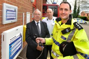 Residents can get in touch with police from contact point at fire station